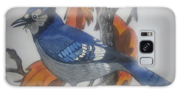 Blue Jay At Fall Galaxy Case