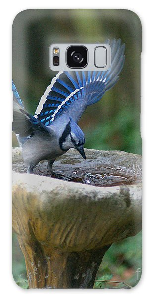 Blue Jay Bath Galaxy Case by Jane Axman