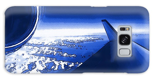 Blue Jet Pop Art Plane Galaxy Case