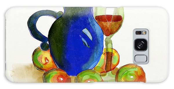 Blue Jug And Apples Galaxy Case