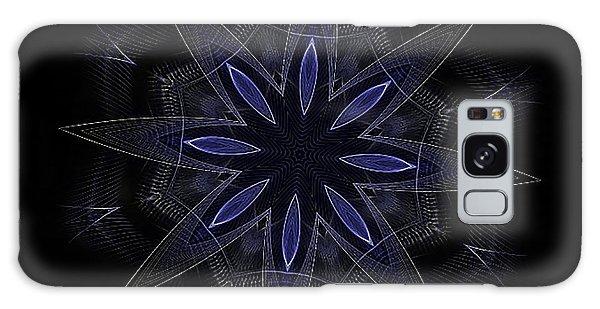 Blue Lace Fractal Mandala Galaxy Case