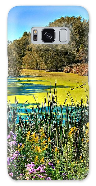Blue Lagoon 2 Galaxy Case by Michaela Preston