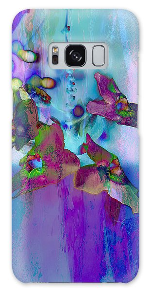 Blue Lagoon Galaxy Case by Carol Kinkead
