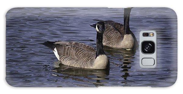 Blue Lake Geese Galaxy Case