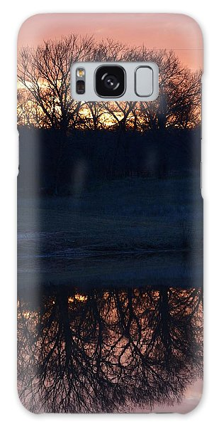 Blue Lake Sunset Xi Galaxy Case