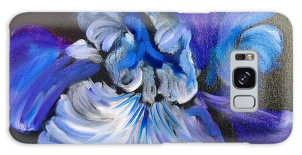 Blue/lavender Iris Galaxy Case