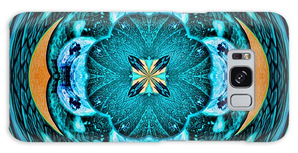 Blue Leaf Mandala Kaleidoscope Galaxy Case