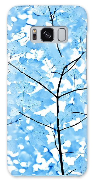 Outdoor Galaxy Case - Blue Leaves Melody by Jennie Marie Schell