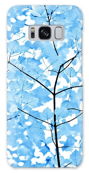 Blue Leaves Melody Galaxy Case