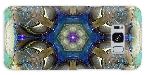 Blue Light Angel Mandala Galaxy Case