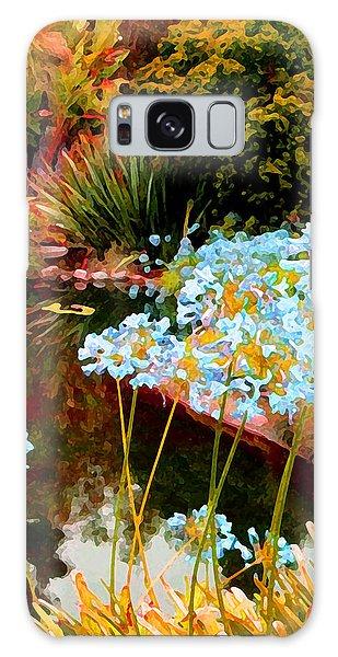 Blue Lily Water Garden Galaxy Case