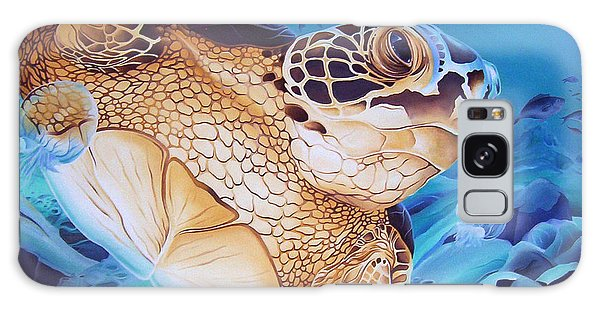 Blue Loggerhead Galaxy Case