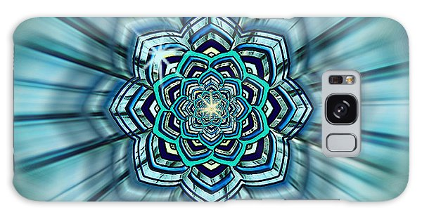 Blue Lotus Mandala Galaxy Case