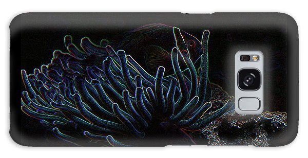 Blue Magic Light Fish  Galaxy Case