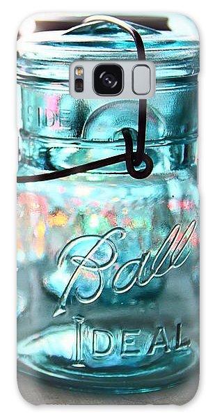 Blue Mason Jars Galaxy Case by Elizabeth Budd