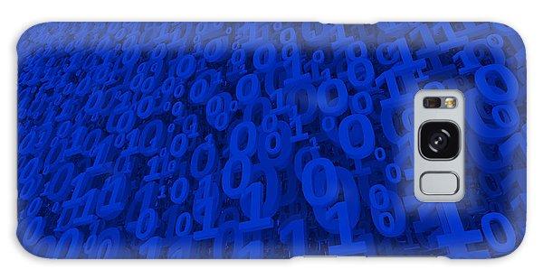 Blue Matrix Galaxy Case by Vitaliy Gladkiy