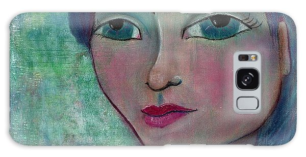 Blue Mermaid Girl Galaxy Case by Lisa Noneman