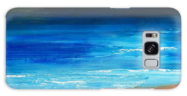 Blue Mist Over Nantucket Island Galaxy Case