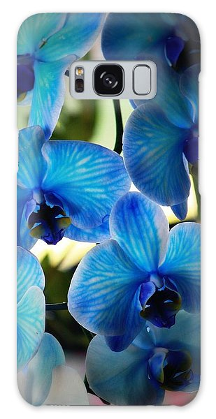 Orchid Galaxy Case - Blue Monday by Mandy Shupp