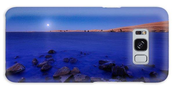 Blue Moon On The Rocks Galaxy Case