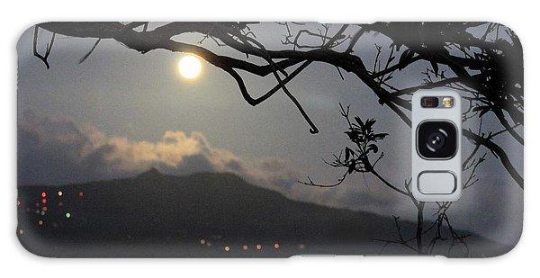 Blue Moon Over El Yunque Galaxy Case by The Art of Alice Terrill