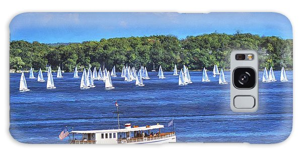 Blue Morning Cruise - Lake Geneva Wisconsin Galaxy Case