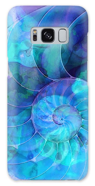 Blue Nautilus Shell By Sharon Cummings Galaxy Case by Sharon Cummings