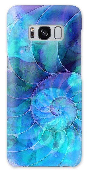 Blue Nautilus Shell By Sharon Cummings Galaxy Case