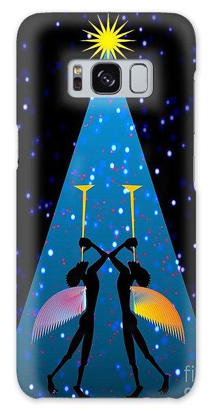 Blue Noel  Galaxy Case