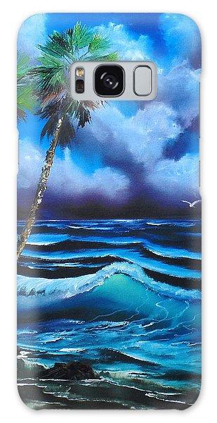 Blue Ocean Wave Galaxy Case