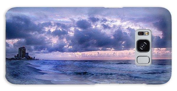 Blue Orange Beach Galaxy Case by Michael Thomas