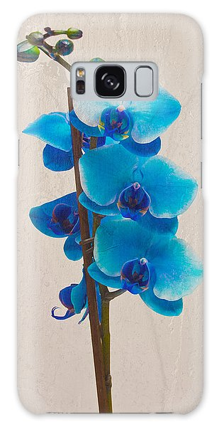 Blue Orchid Galaxy Case by Scott Carruthers