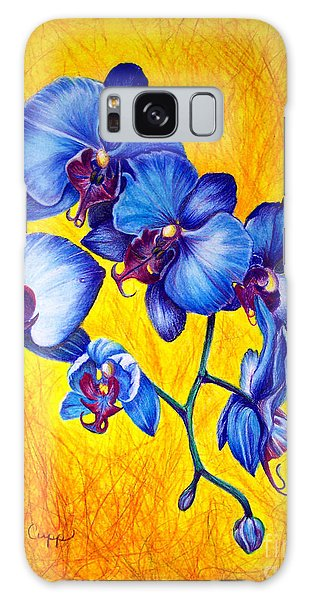 Blue Orchids 1 Galaxy Case