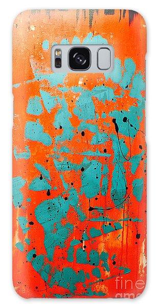 Blue Pagoda Galaxy Case by Theresa Kennedy DuPay