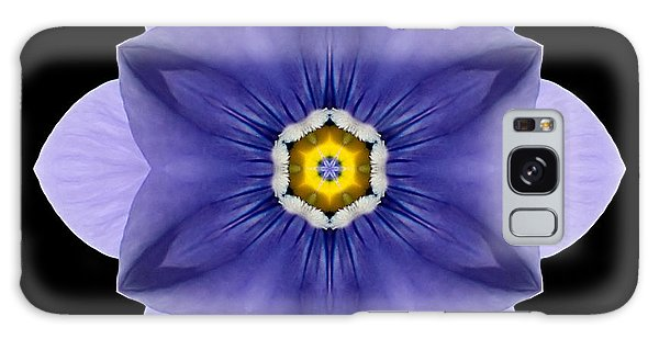 Blue Pansy I Flower Mandala Galaxy Case
