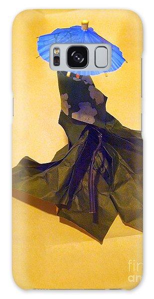 Blue Parasol Galaxy Case by Nancy Kane Chapman