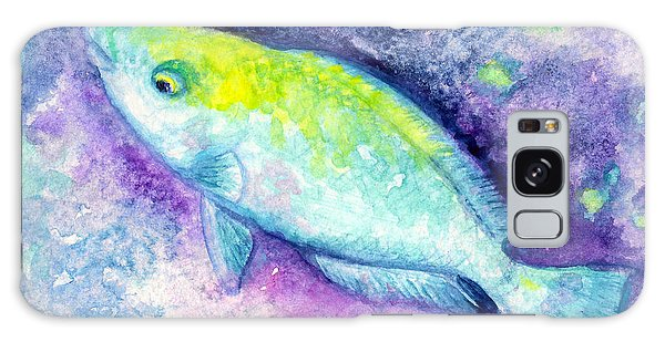 Blue Parrotfish Galaxy Case