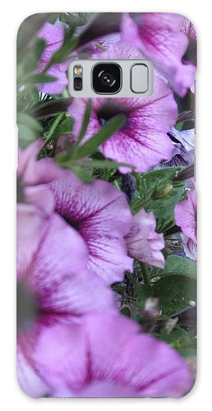 Blue Petunias Galaxy Case