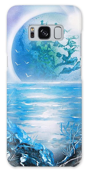 Blue Moon Galaxy Case by Greg Moores