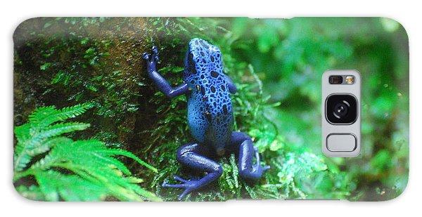 Blue Poison Dart Frog Galaxy Case by DejaVu Designs