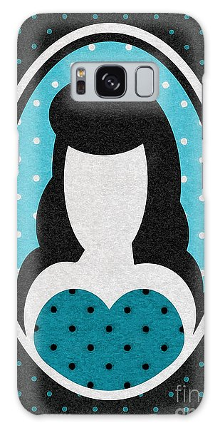 Blue Polka-dot Girl Galaxy Case