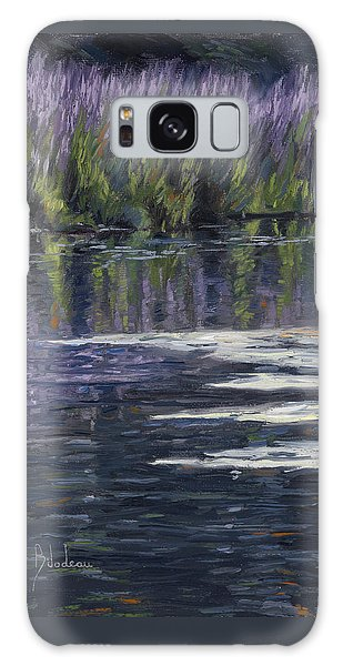 Scenery Galaxy Case - Blue Pond by Lucie Bilodeau