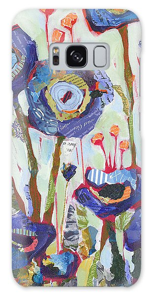 Galaxy Case featuring the painting Blue Poppies I by Shelli Walters