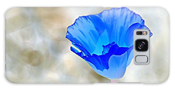 Blue Poppy Galaxy Case by AJ  Schibig