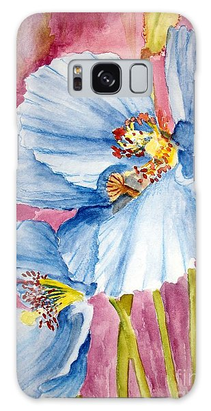 Blue Poppy Galaxy Case by Carol Grimes