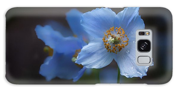 Blue Poppy Galaxy Case