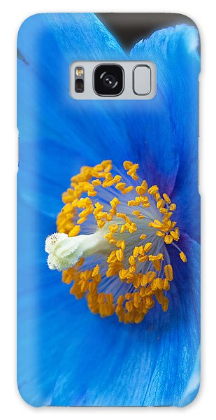 Blue Poppy Galaxy Case by Michael Porchik