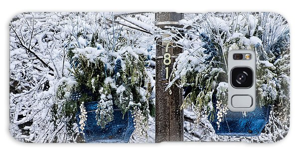 Blue Pots After Ice And Snow Storms Galaxy Case by Gerda Grice