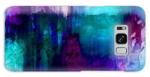 Blue Rain  Abstract Art   Galaxy Case