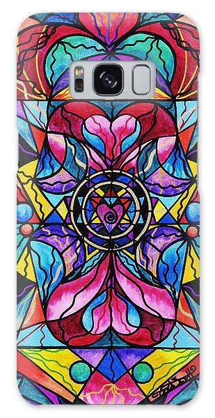 Beautiful Galaxy Case - Blue Ray Healing by Teal Eye Print Store